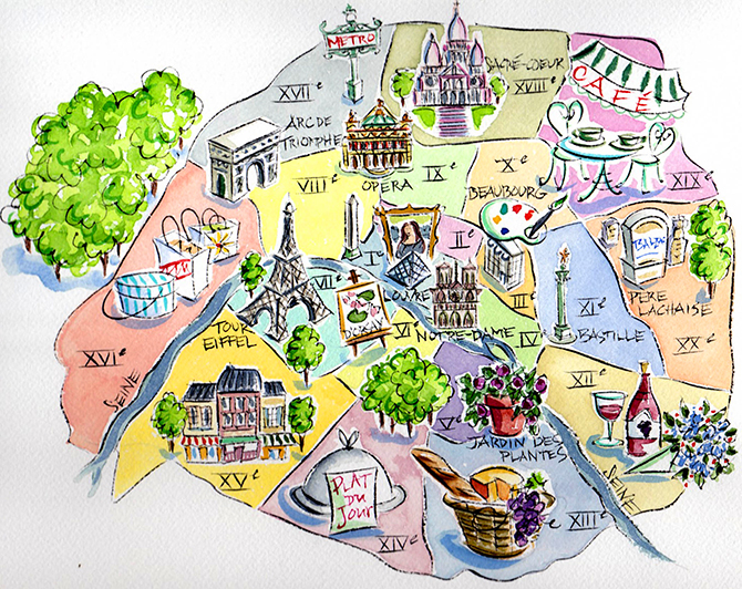 The Three Changes The American In Paris - What to see in paris map